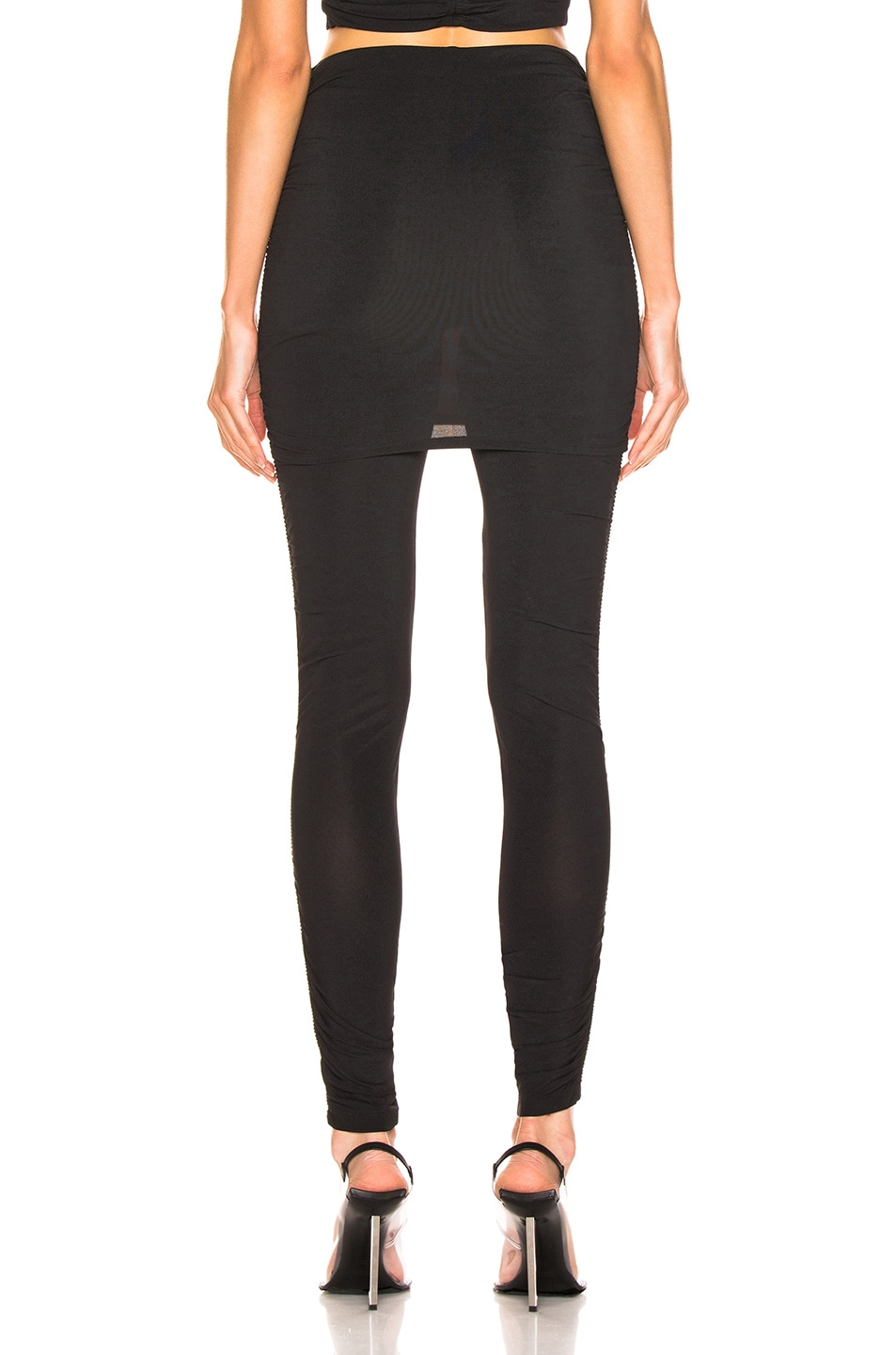 Image 3 of T by Alexander Wang Crepe Twist Legging in Black