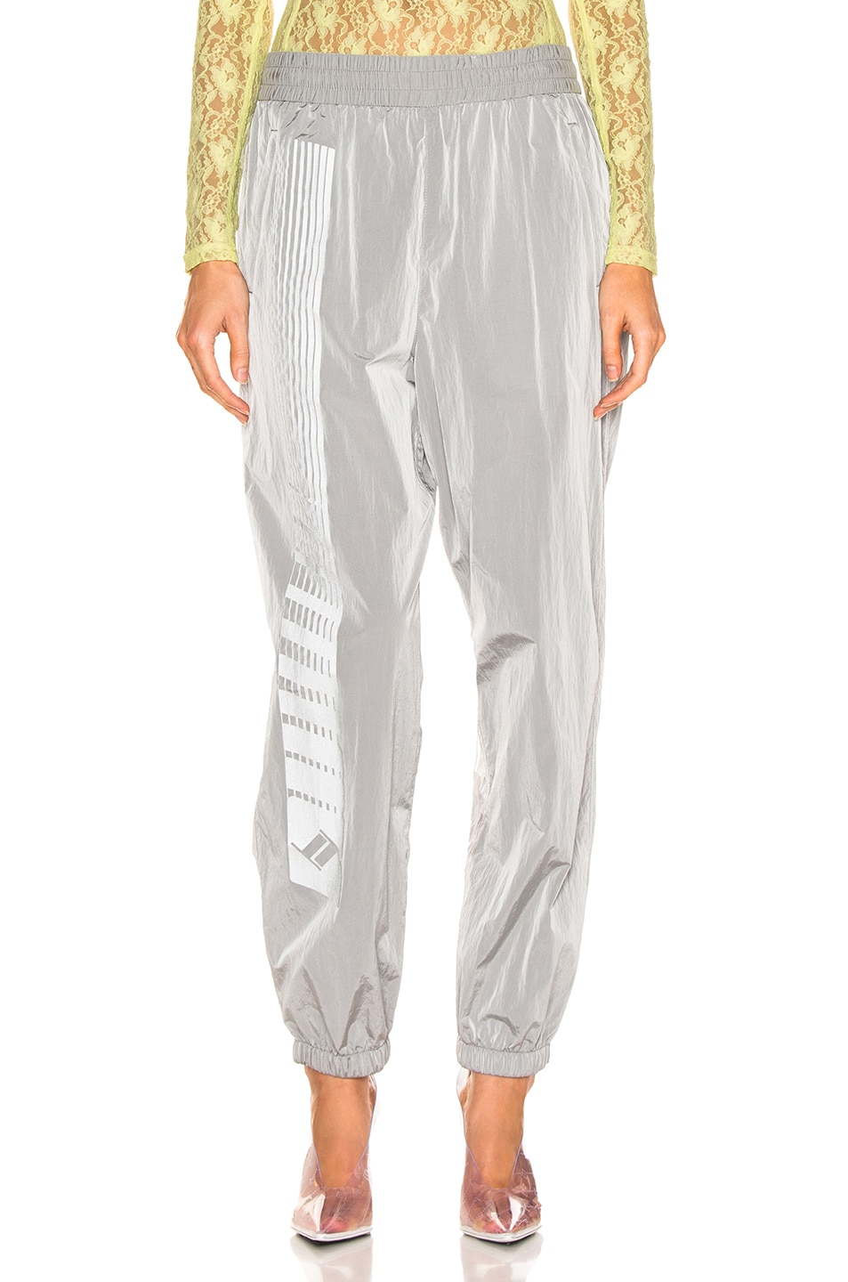 Image 1 of T by Alexander Wang Reflective Print Pant in Silver