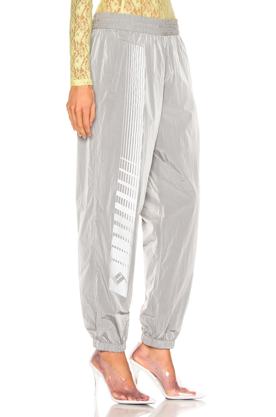 Image 2 of T by Alexander Wang Reflective Print Pant in Silver