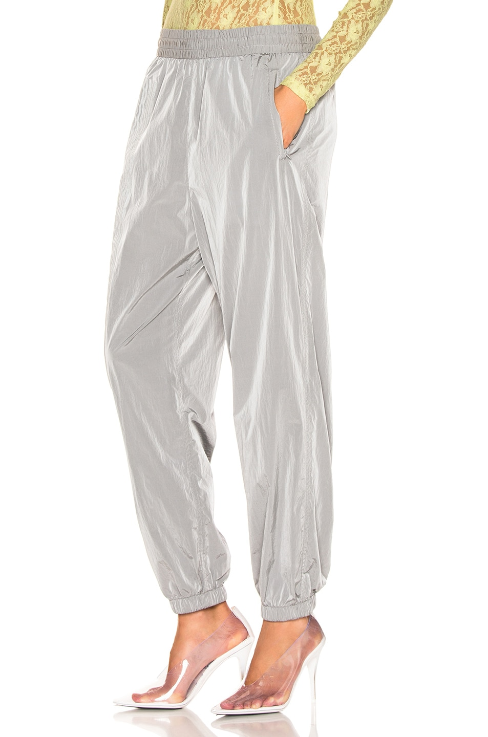 Image 3 of T by Alexander Wang Reflective Print Pant in Silver
