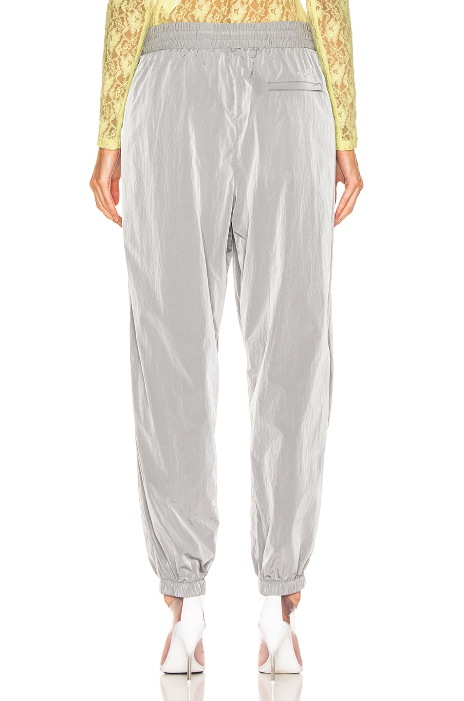 Image 4 of T by Alexander Wang Reflective Print Pant in Silver