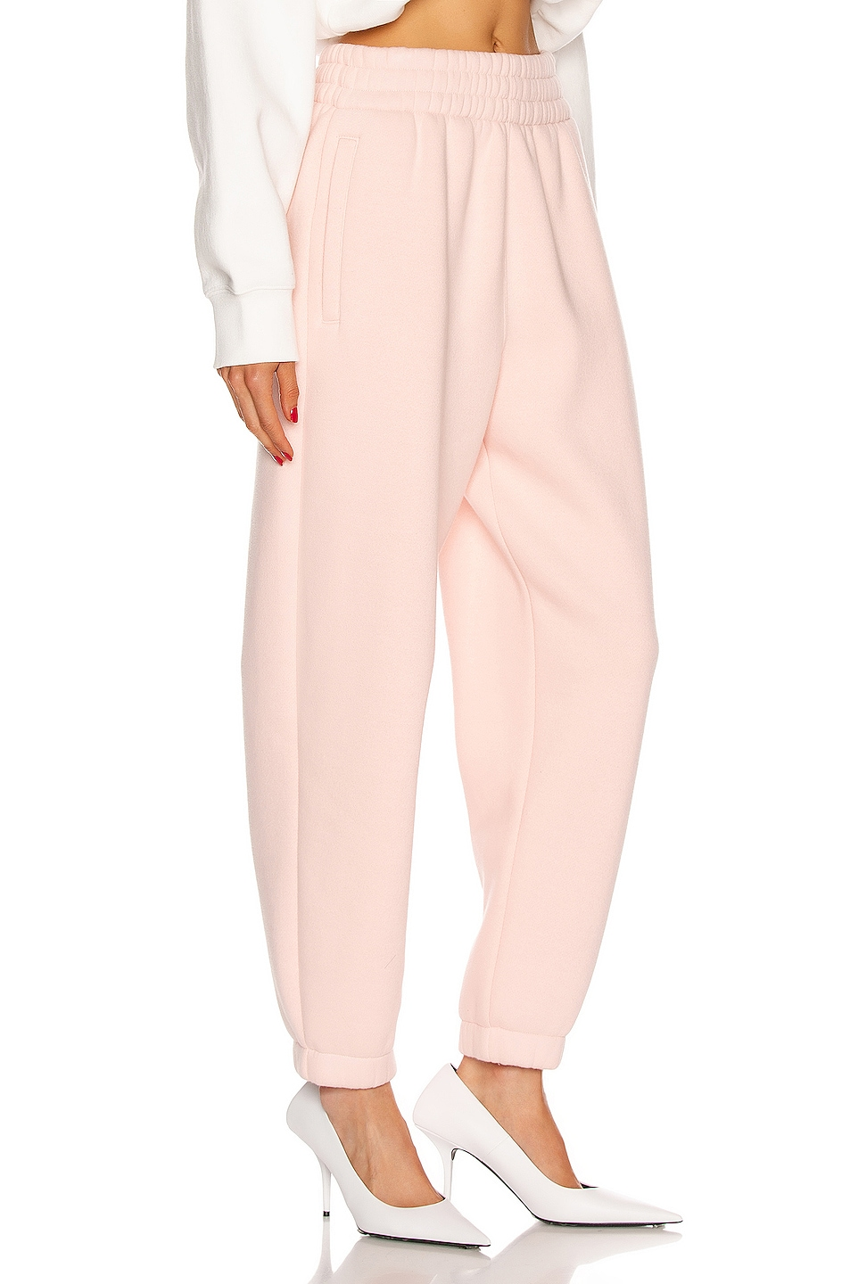 Image 2 of T by Alexander Wang Puff Paint Pant in Light Melon