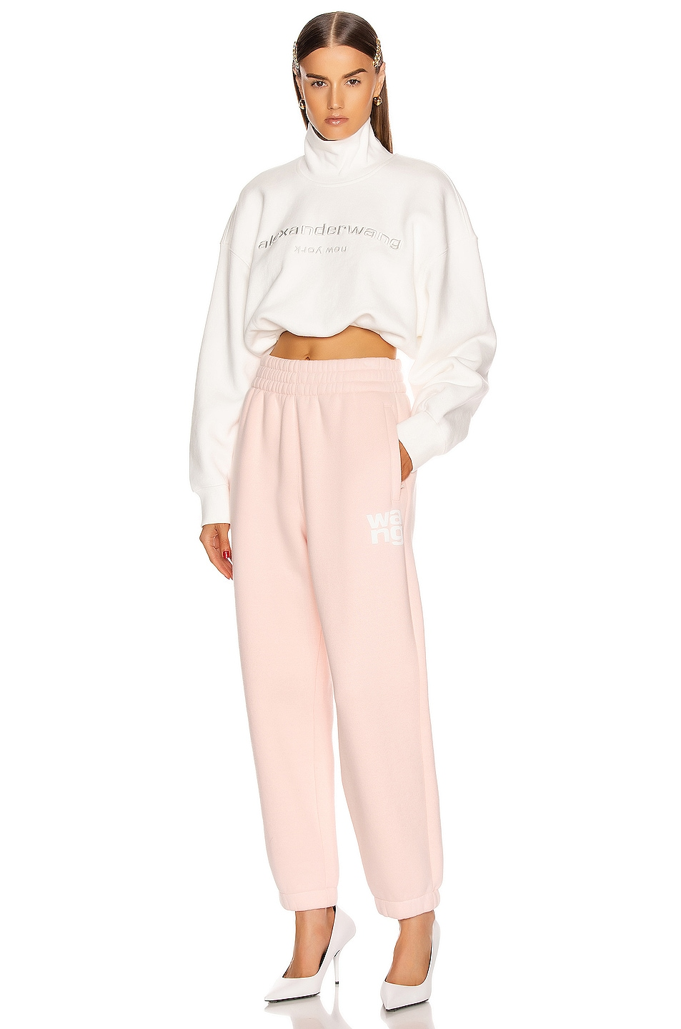 Image 4 of T by Alexander Wang Puff Paint Pant in Light Melon
