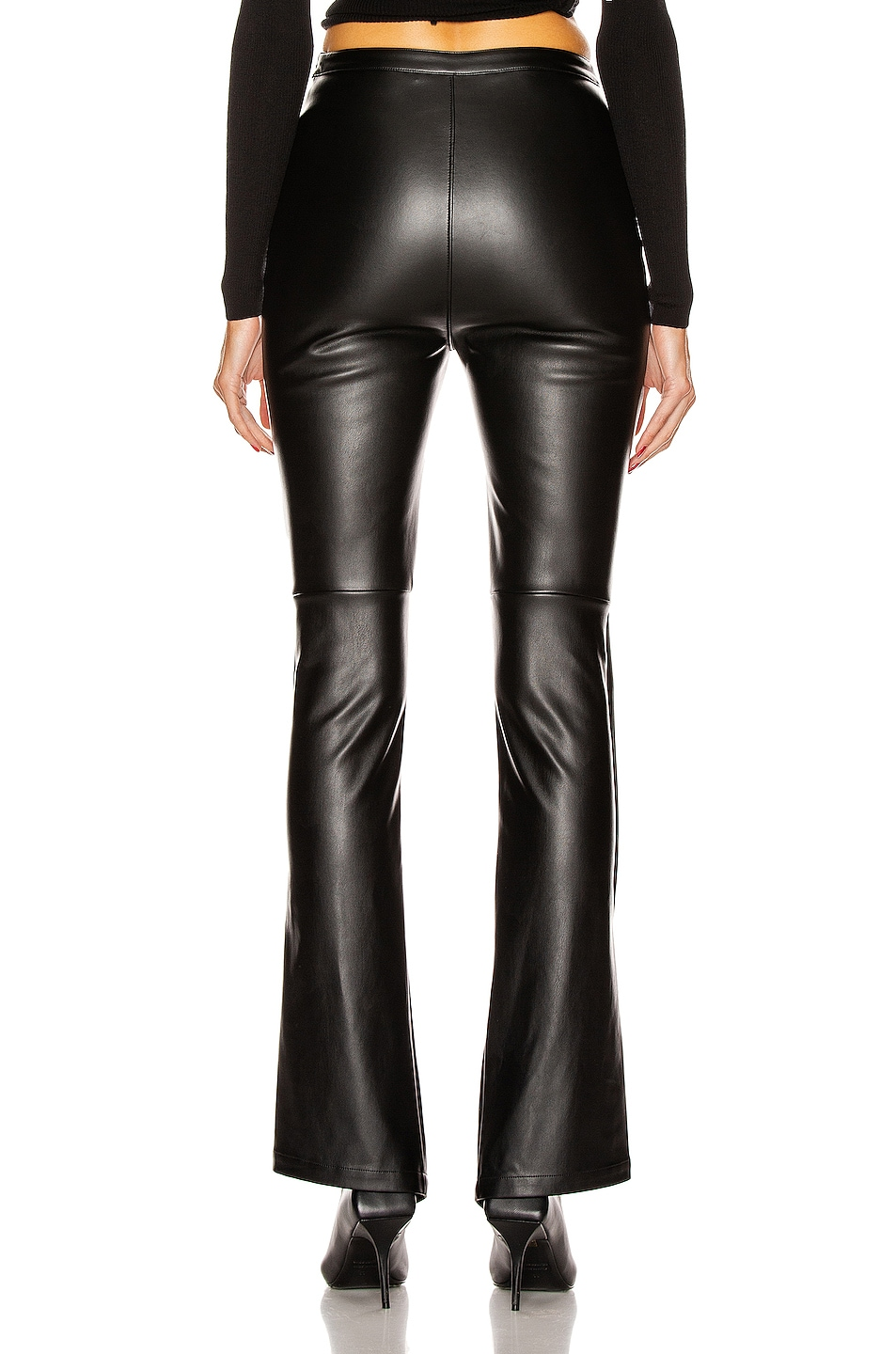 Image 4 of T by Alexander Wang Stretch Washable Faux Leather Pants in Black
