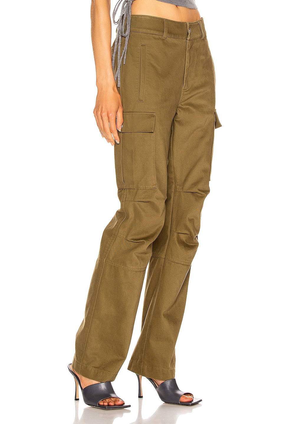 Image 2 of T by Alexander Wang Twill Cargo Pant in Olive