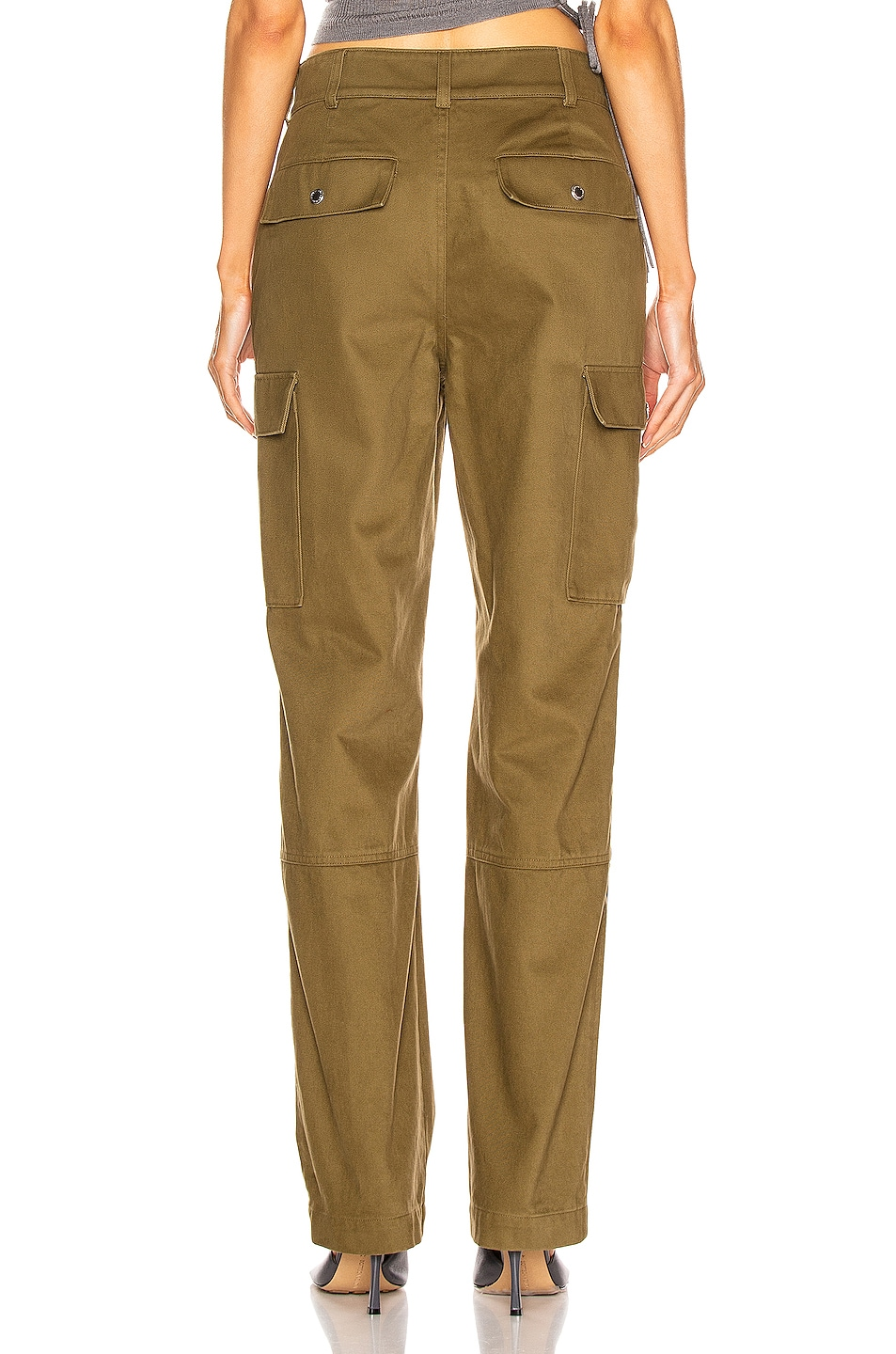 Image 3 of T by Alexander Wang Twill Cargo Pant in Olive