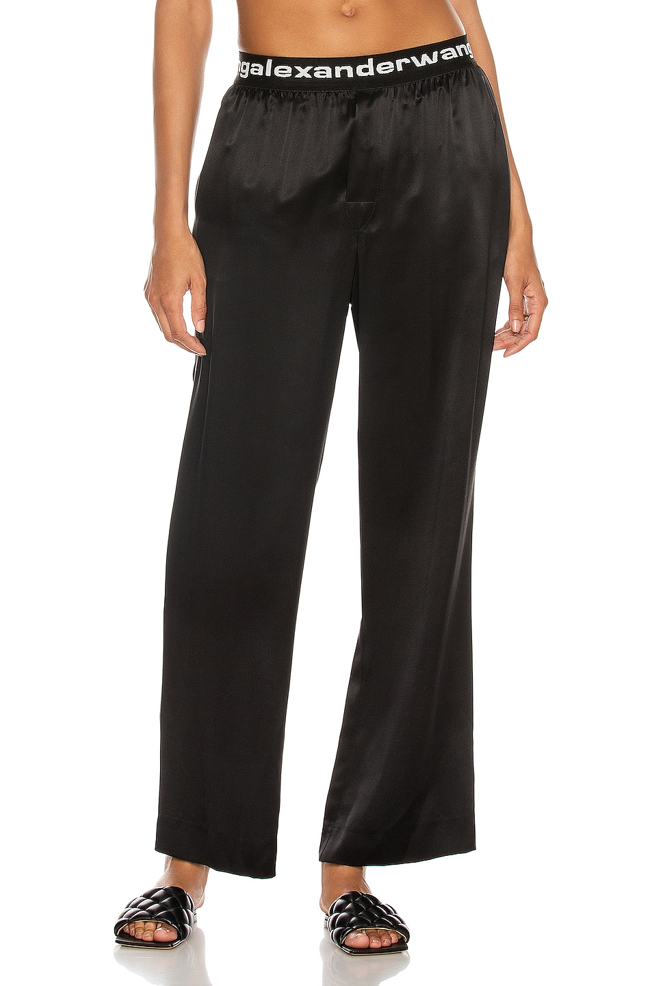 Image 1 of T by Alexander Wang Logo Pull On Pant in Black