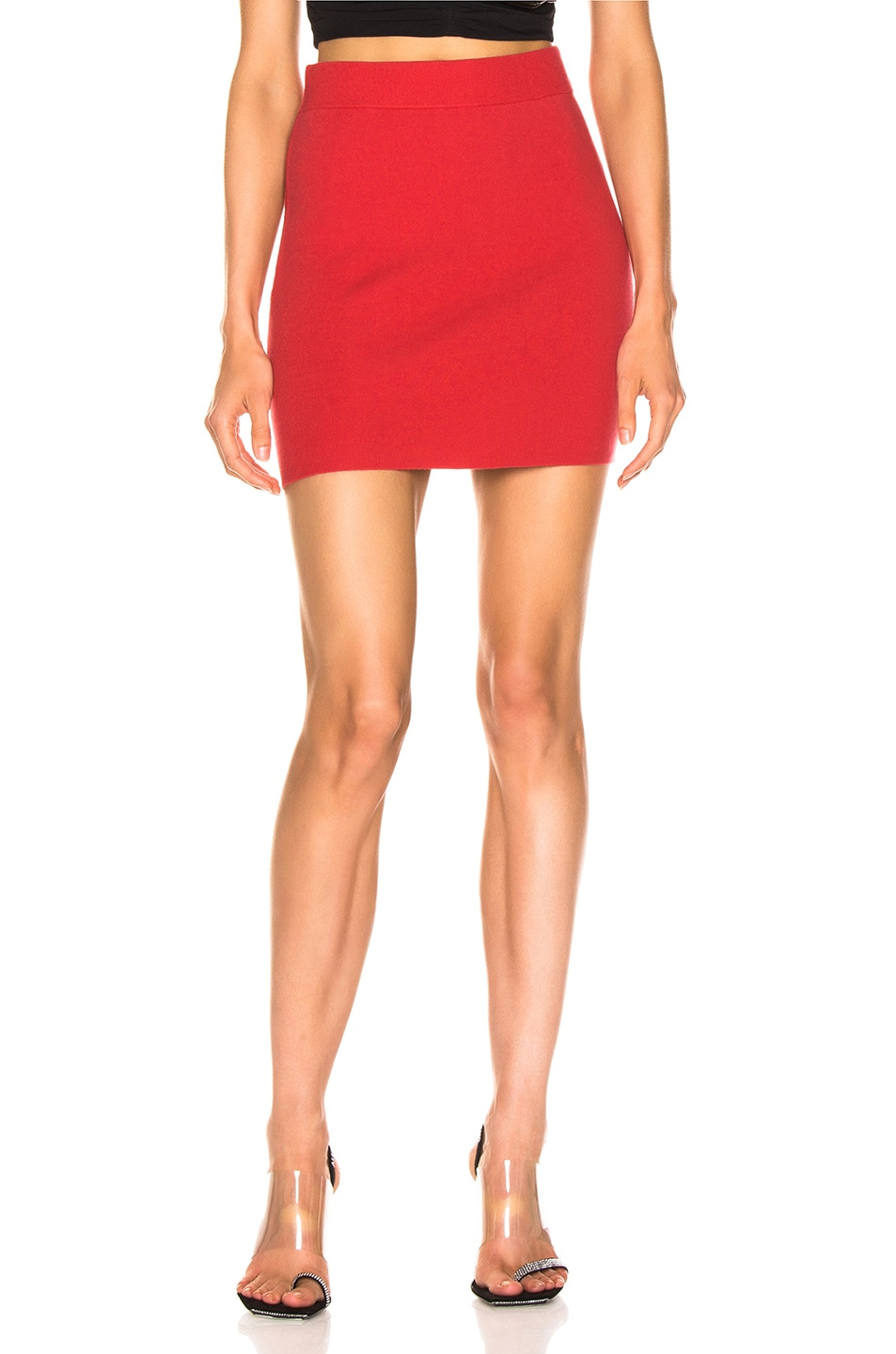 Image 1 of T by Alexander Wang Bodycon Pencil Skirt in Watermelon