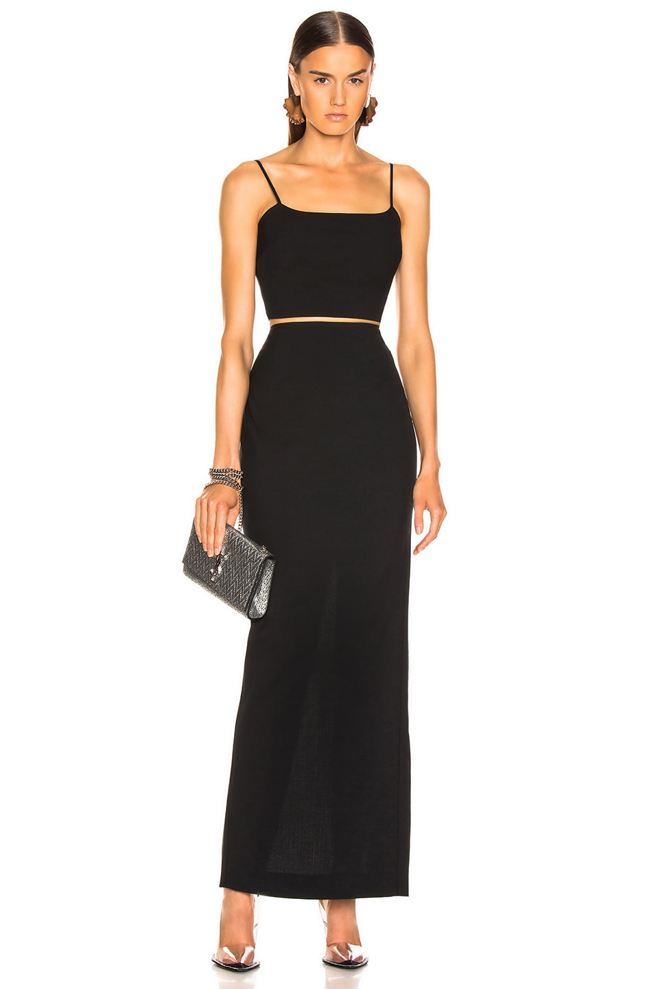Image 4 of T by Alexander Wang Washable Wool Long Skirt in Black