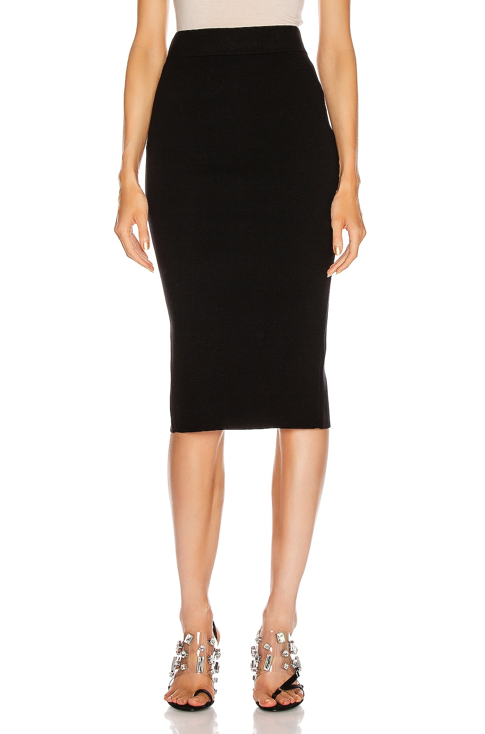 Image 1 of T by Alexander Wang Foundation Bodycon Skirt in Black