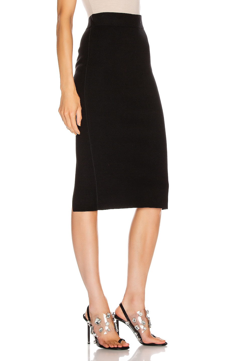 Image 2 of T by Alexander Wang Foundation Bodycon Skirt in Black