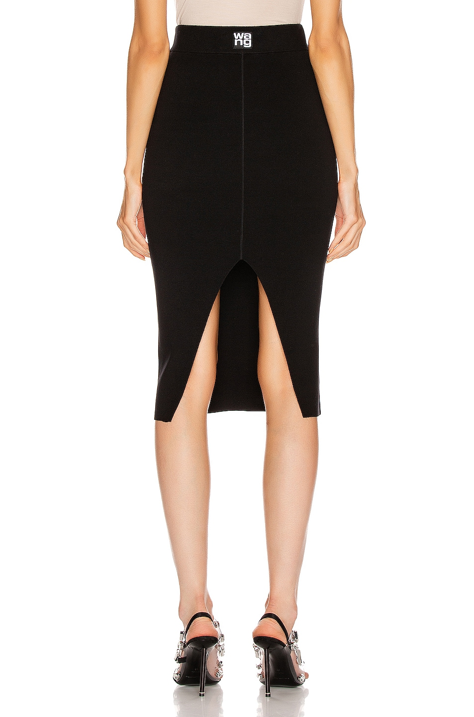 Image 3 of T by Alexander Wang Foundation Bodycon Skirt in Black