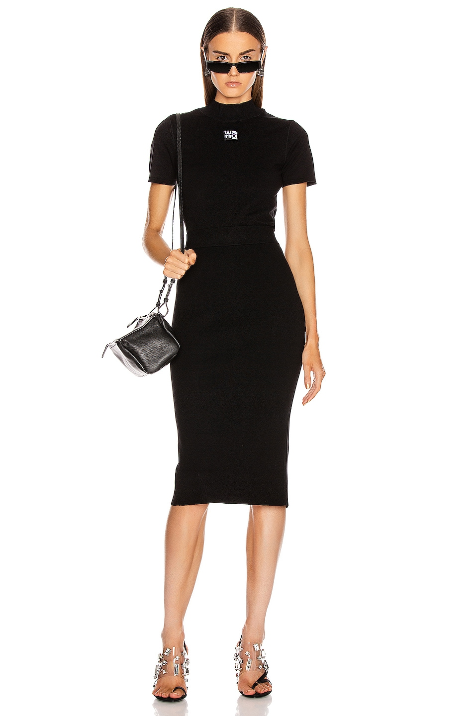 Image 4 of T by Alexander Wang Foundation Bodycon Skirt in Black