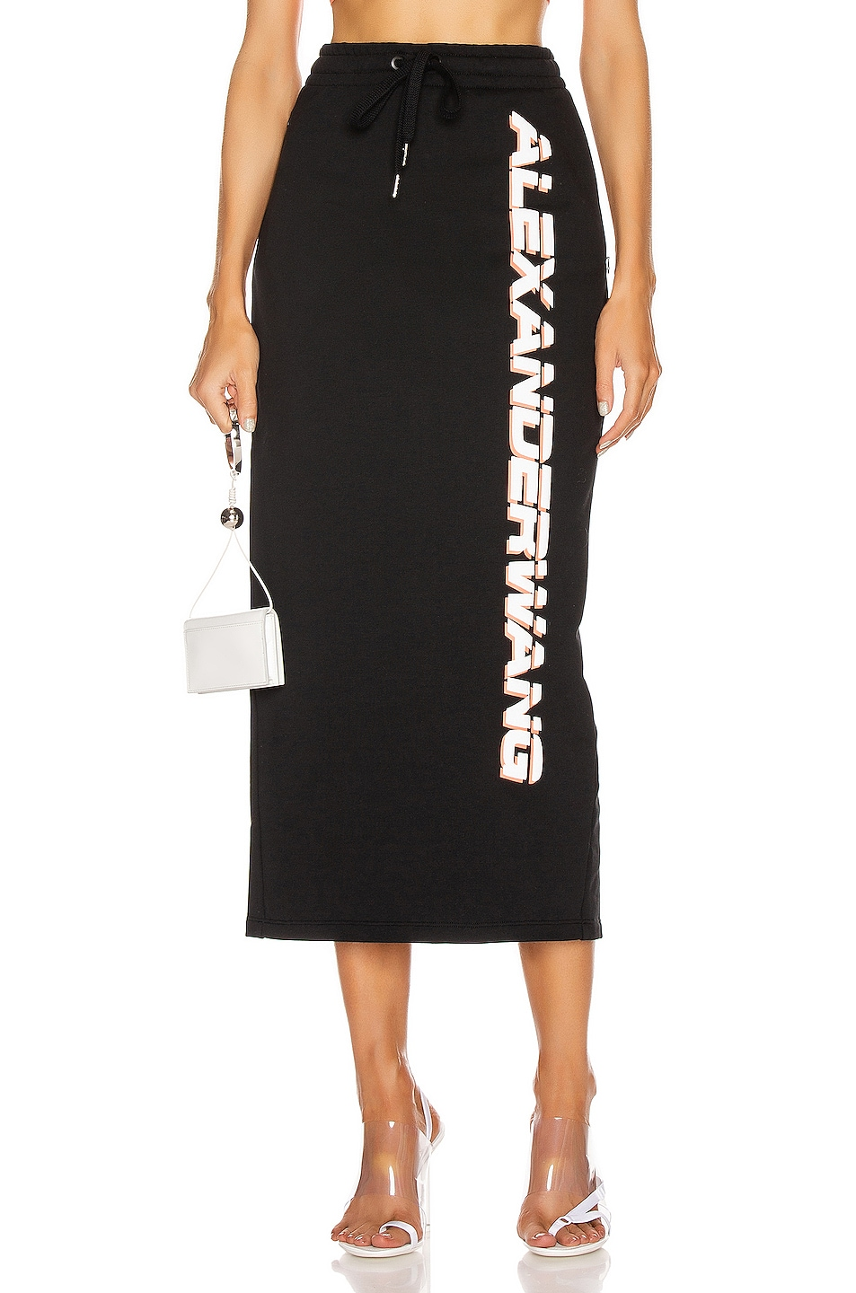 Image 1 of T by Alexander Wang Dry French Terry Skirt in Black