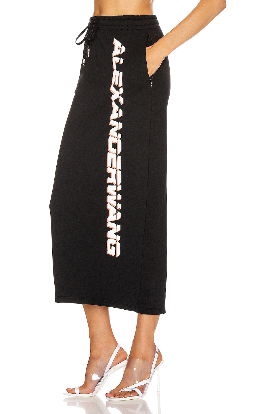 Image 3 of T by Alexander Wang Dry French Terry Skirt in Black