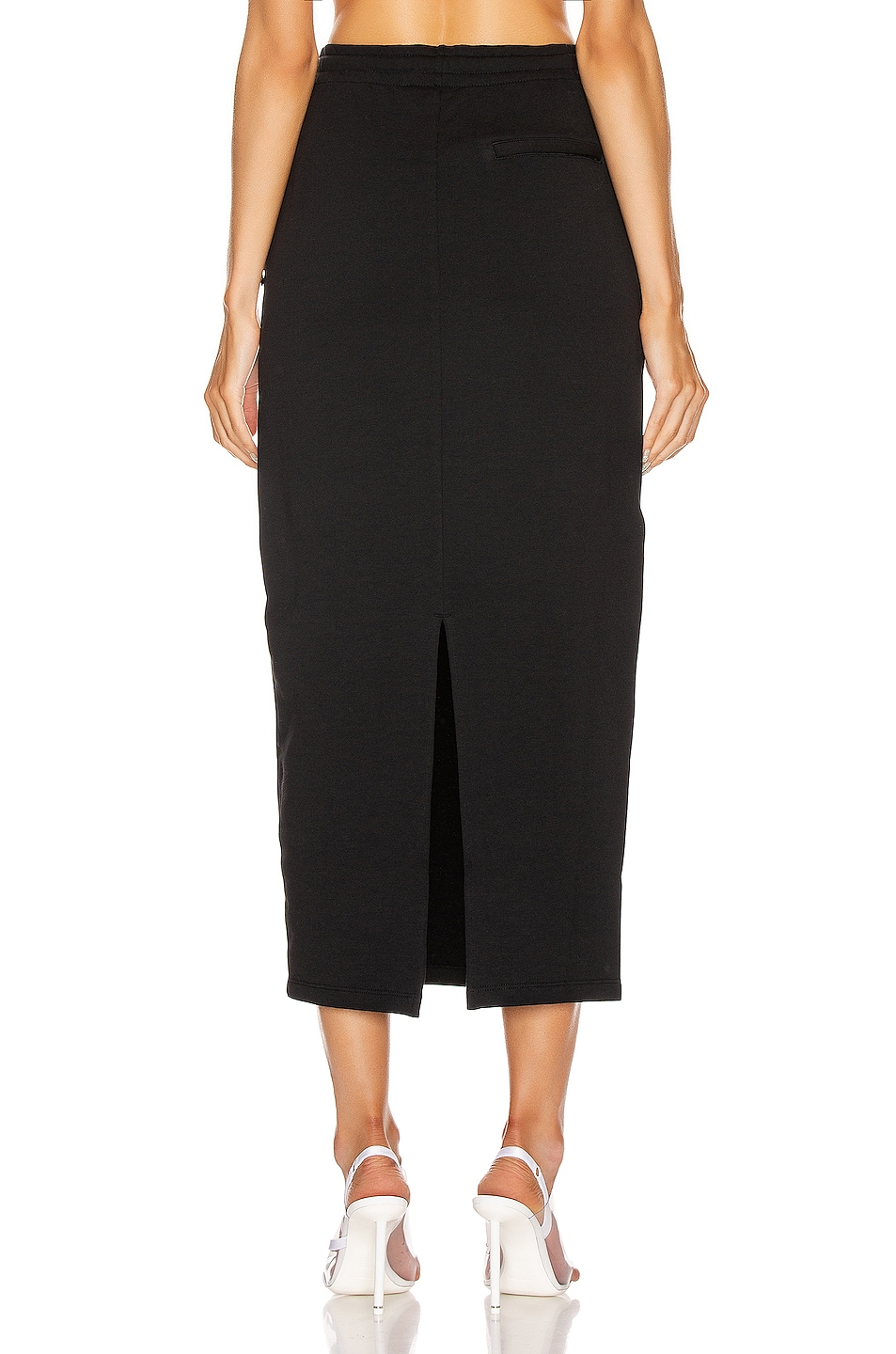 Image 4 of T by Alexander Wang Dry French Terry Skirt in Black