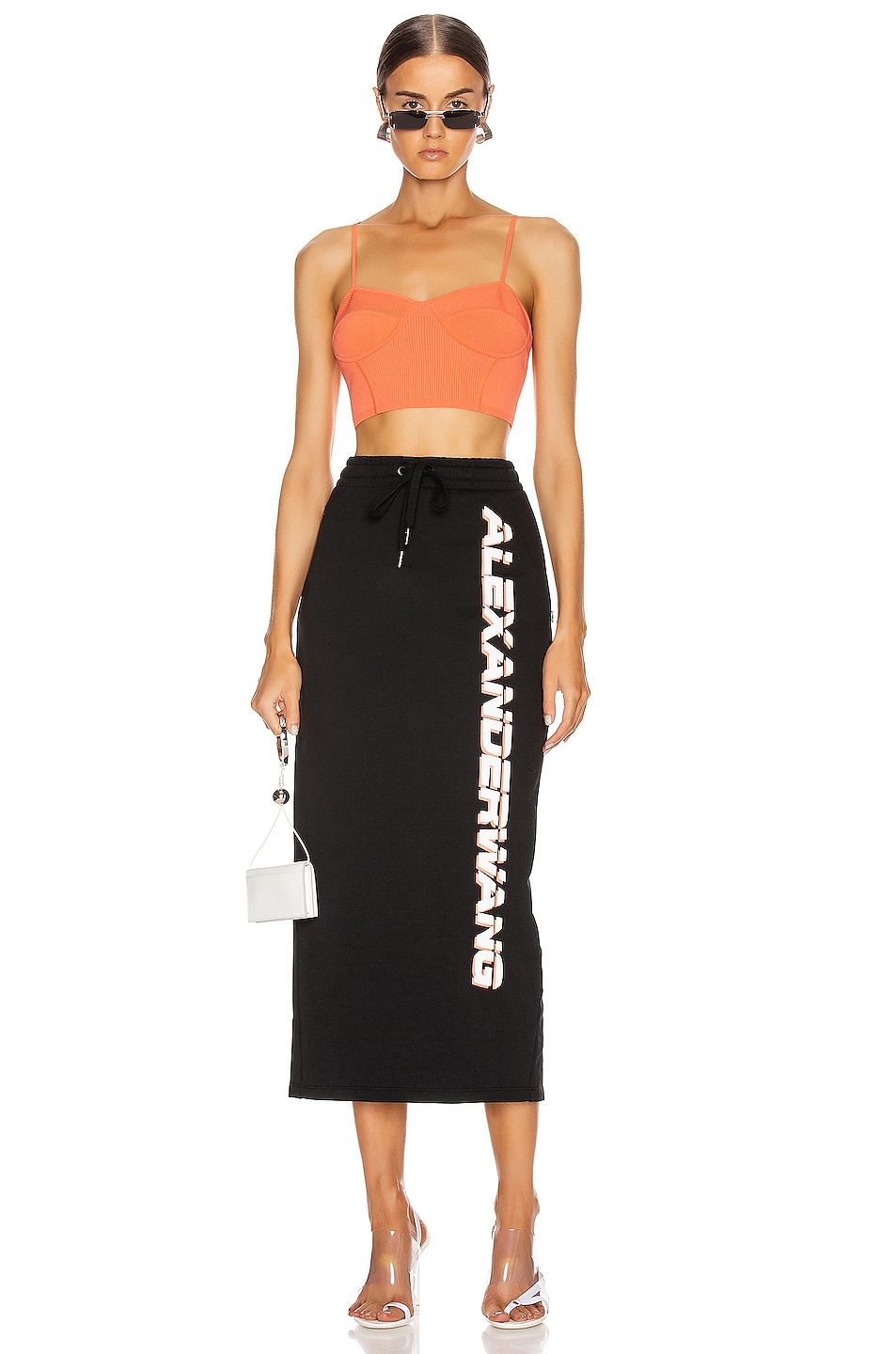 Image 5 of T by Alexander Wang Dry French Terry Skirt in Black