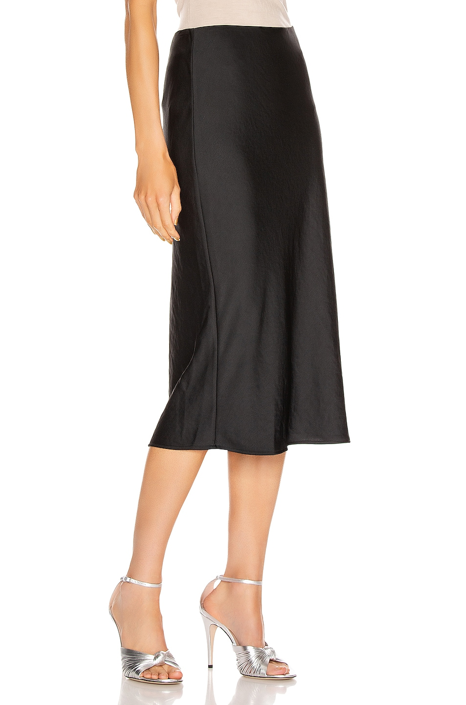 Image 2 of T by Alexander Wang Light Wash & Go Mid Skirt in Black