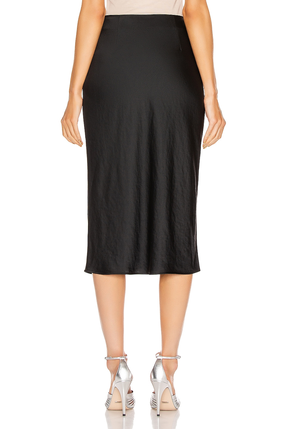 Image 3 of T by Alexander Wang Light Wash & Go Mid Skirt in Black