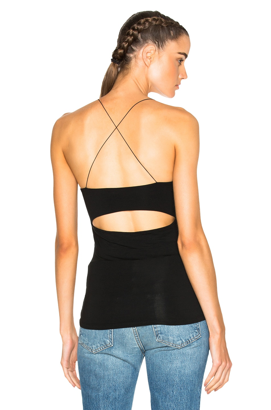 Image 1 of T by Alexander Wang Strappy Cami Top in Black