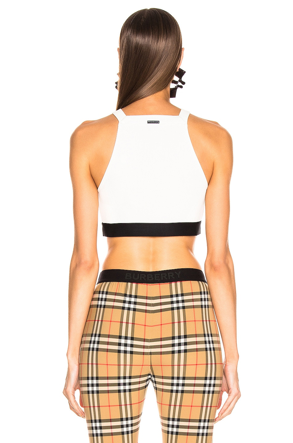 Image 3 of T by Alexander Wang Compact Bra Top in White