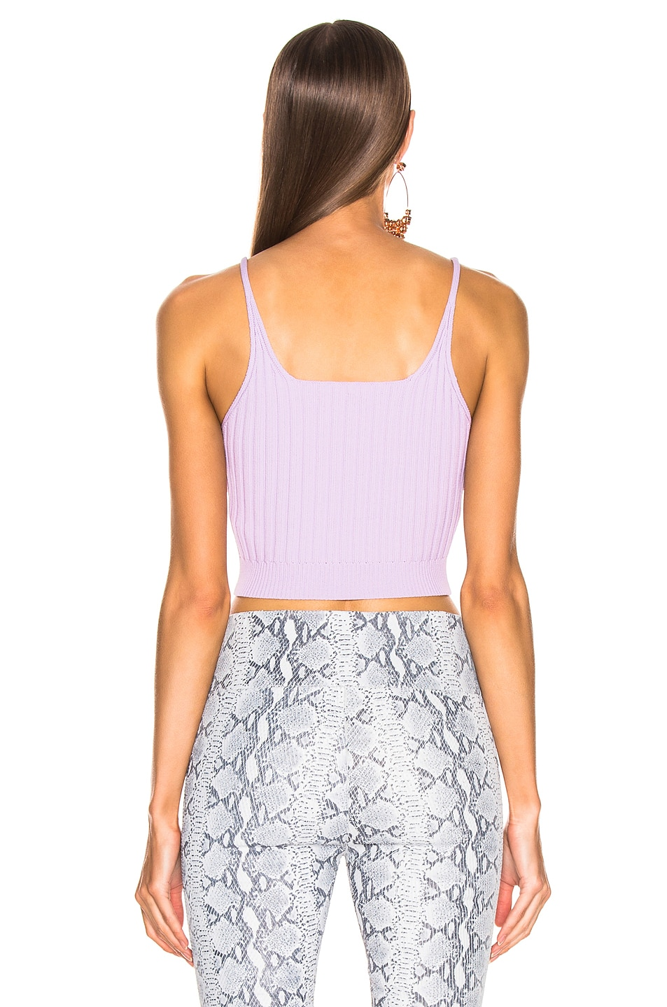 Image 3 of T by Alexander Wang Shrunken Rib Bra Top in Lavender