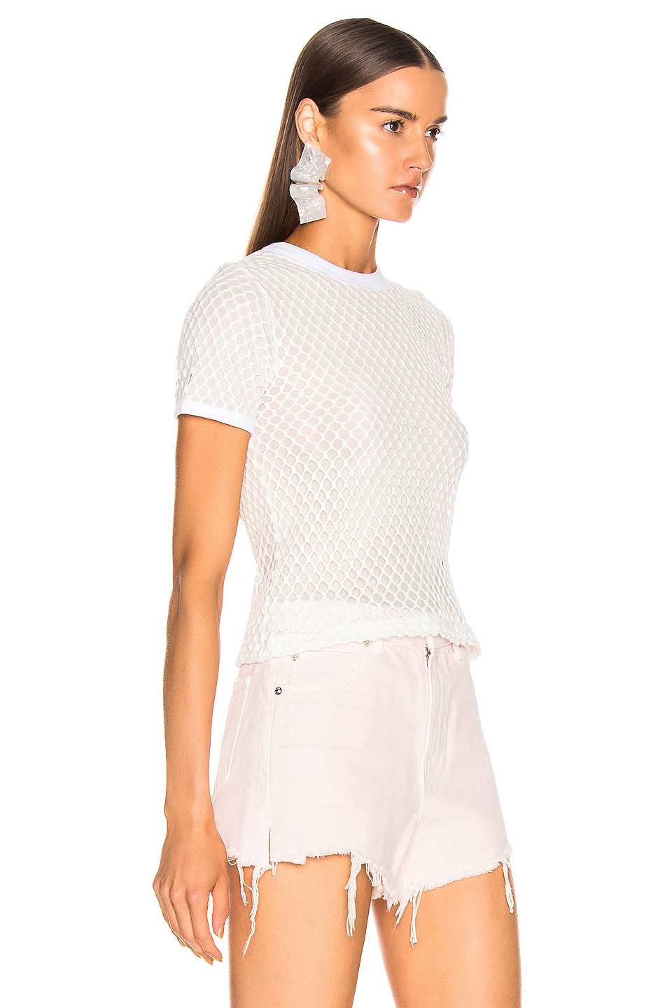 T By Alexander Wang Accessories Mesh Mock Neck Tee