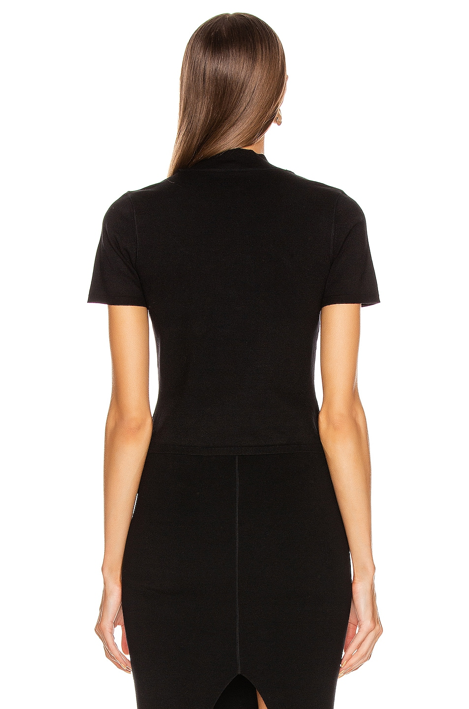 Image 3 of T by Alexander Wang Foundation Bodycon Bralette in Black