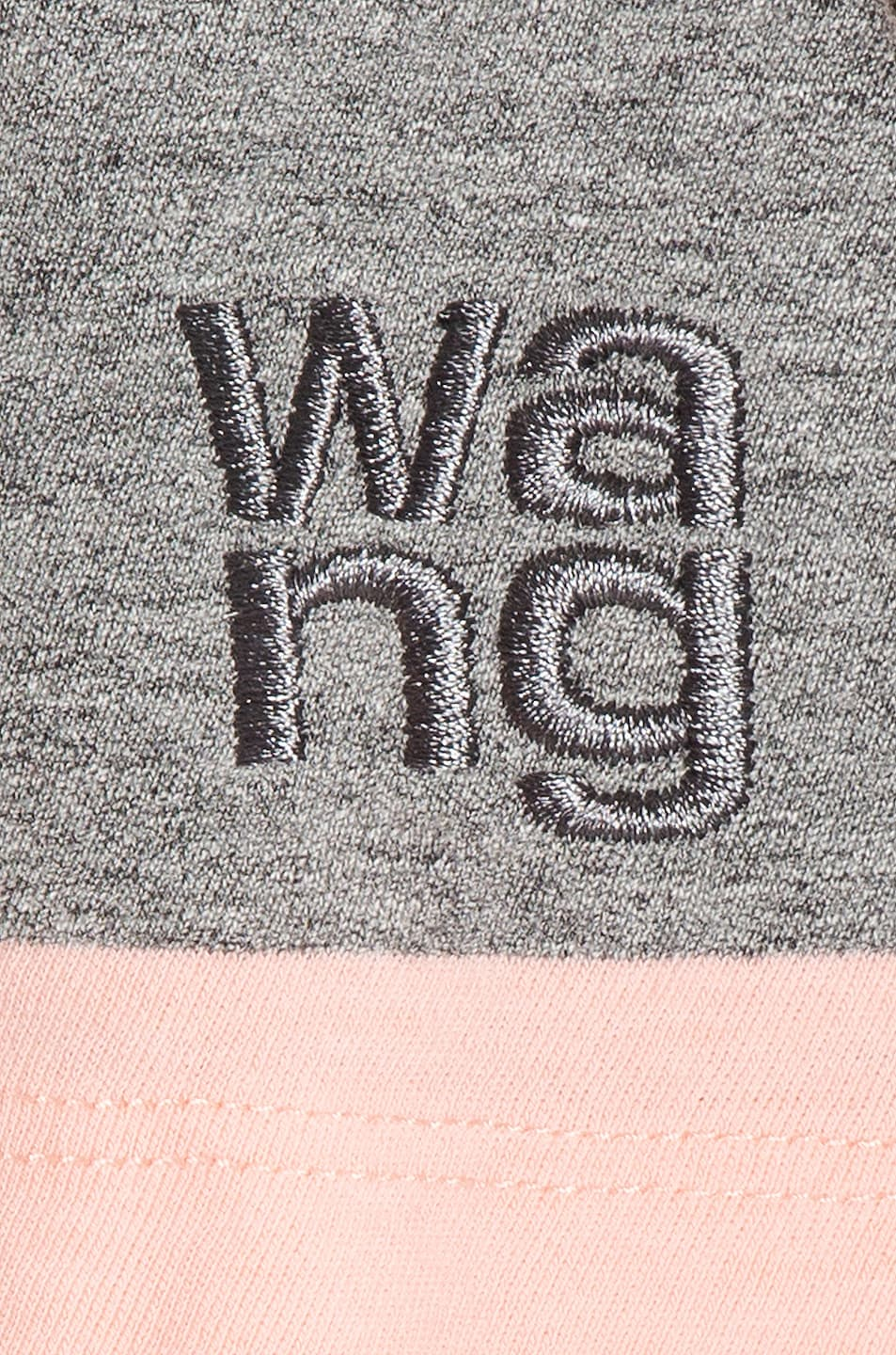 Image 6 of T by Alexander Wang Wash and Go Wide Stripe Crop in Charcoal & Blush