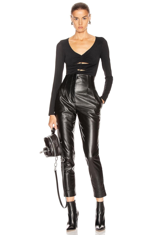 Image 5 of T by Alexander Wang Jersey Bodysuit in Black