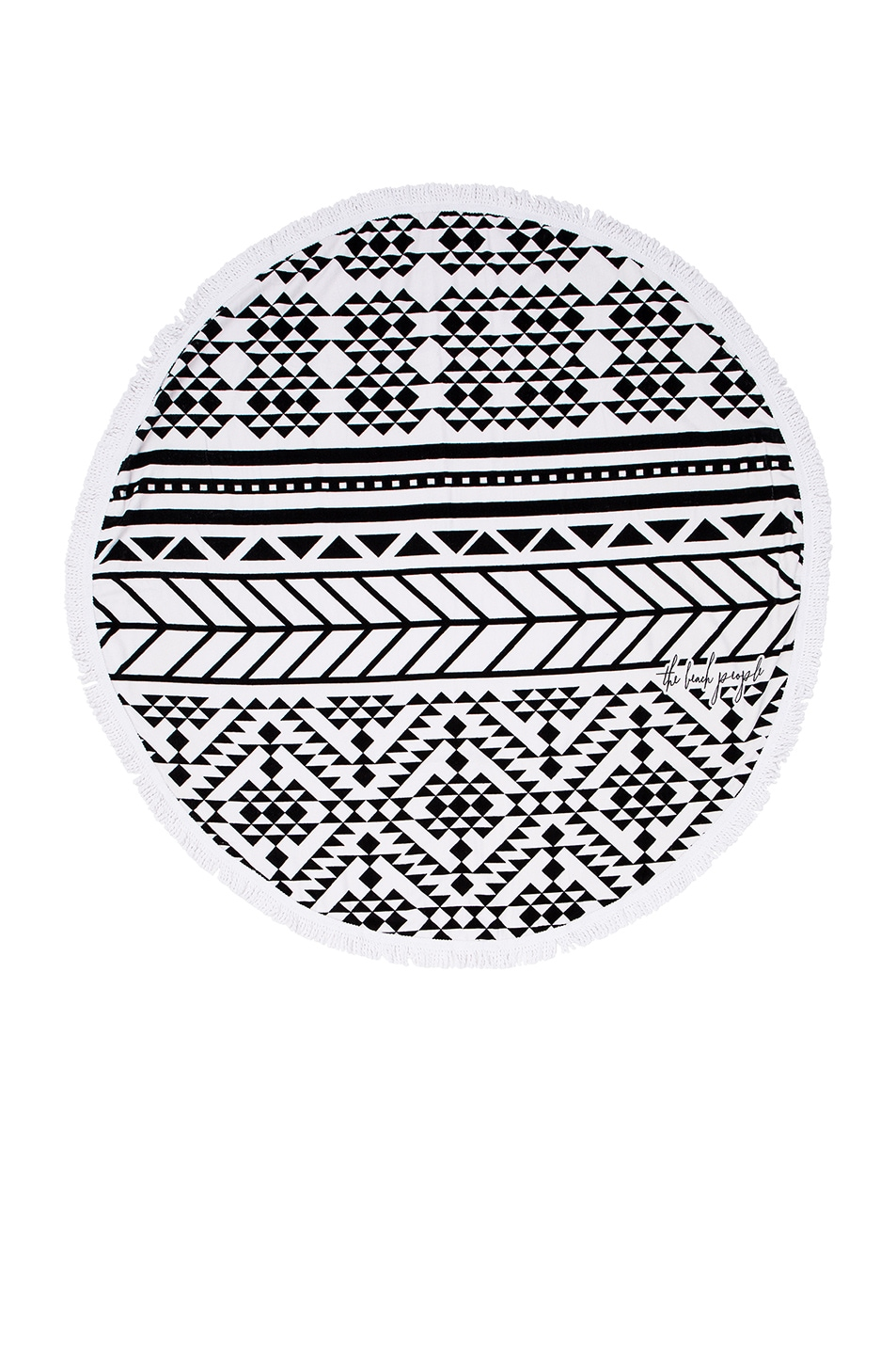 Image 1 of The Beach People Aztec Towel in Black & White