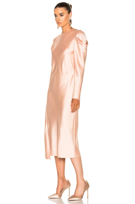 Image 2 of Tibi Drape Sleeve Dress in Blush