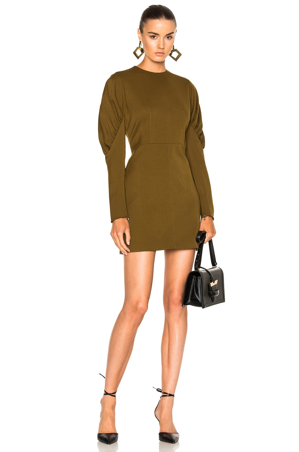 Image 1 of Tibi Florence Dress in Loden