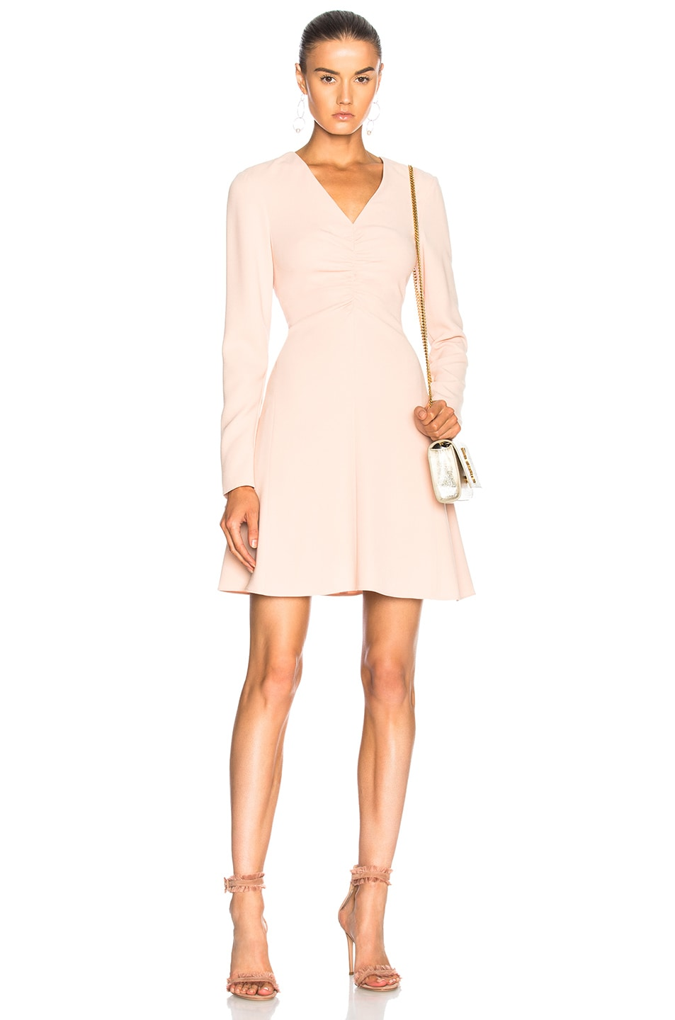 Image 1 of Tibi V Neck Dress in Blush