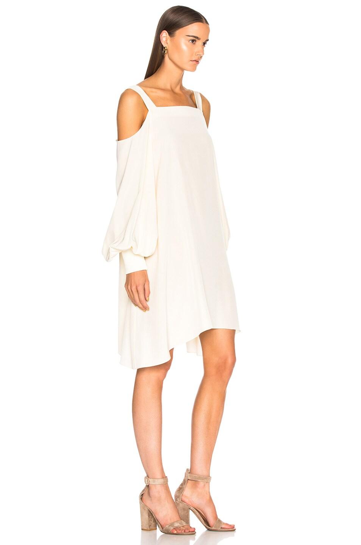 Image 2 of Tibi Cold Shoulder Dress in Butter