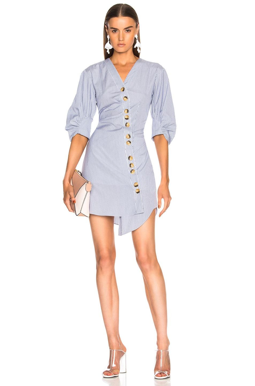 Image 1 of Tibi Jones Shirt Dress in Blue Multi