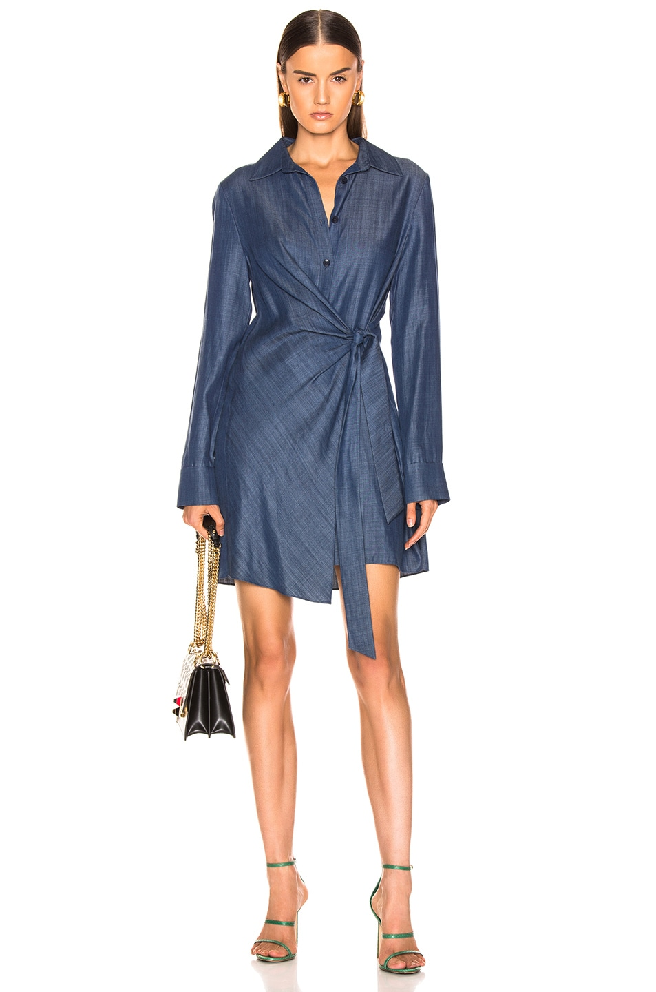 Image 1 of Tibi Tunic Dress in Dark Denim