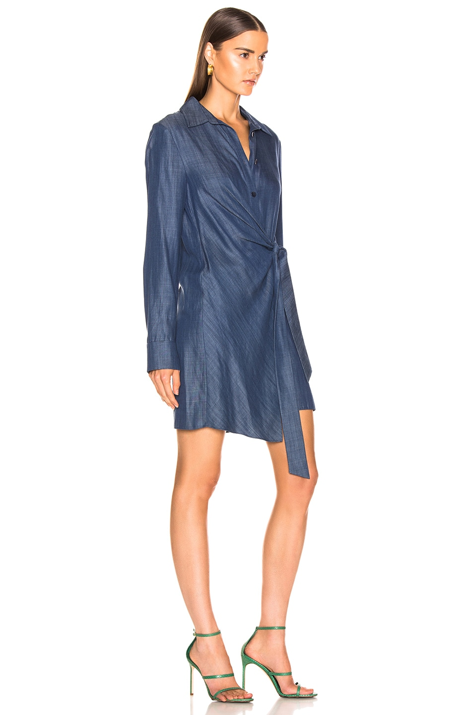Image 2 of Tibi Tunic Dress in Dark Denim