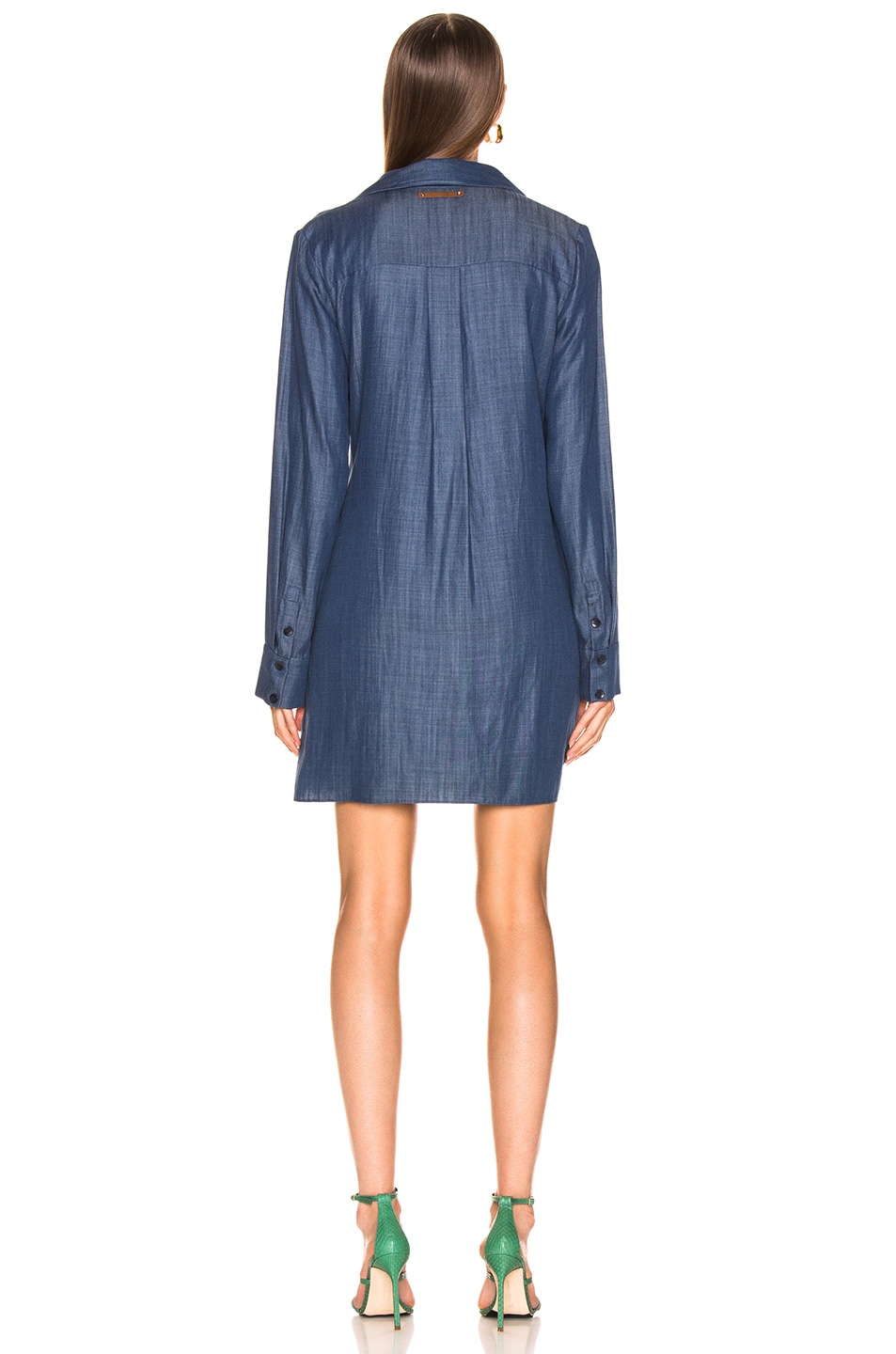 Image 3 of Tibi Tunic Dress in Dark Denim