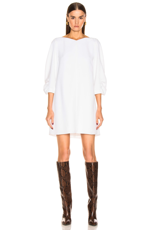 Image 2 of Tibi Shirred Sleeve Dress in White