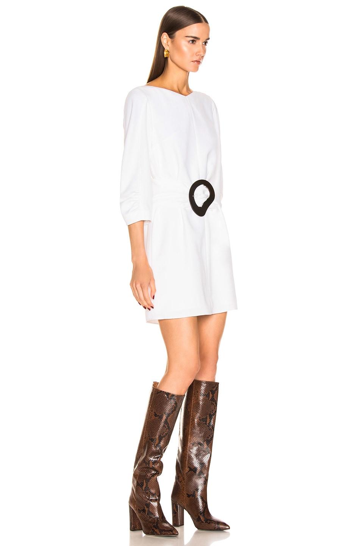 Image 3 of Tibi Shirred Sleeve Dress in White