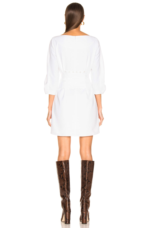 Image 4 of Tibi Shirred Sleeve Dress in White