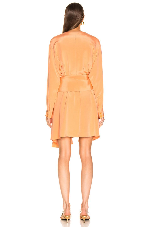 Image 4 of Tibi Long Sleeve Wrap Dress in Sunset Orange