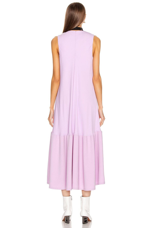 Image 3 of Tibi Modern Drape Sculpted Drape Long Dress in Mulberry