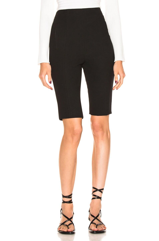 Image 1 of Tibi Anson Biker Short in Black
