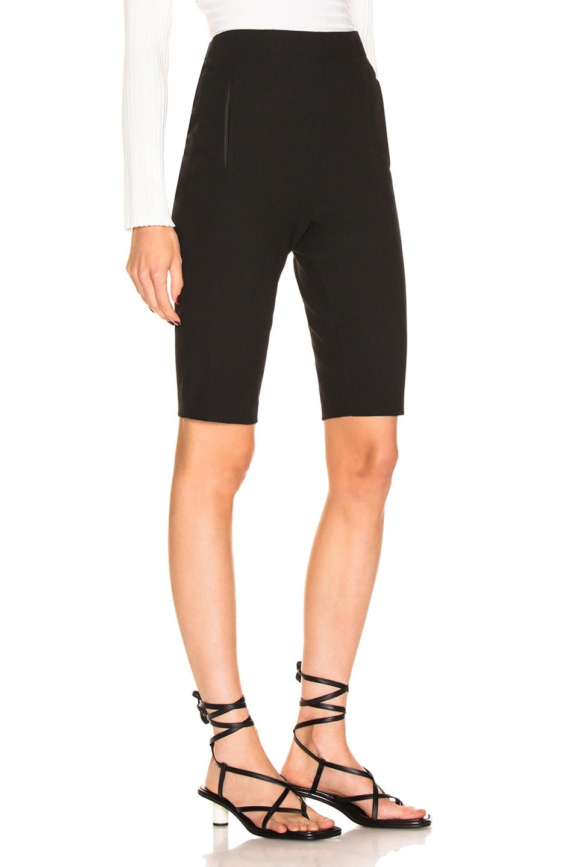 Image 2 of Tibi Anson Biker Short in Black