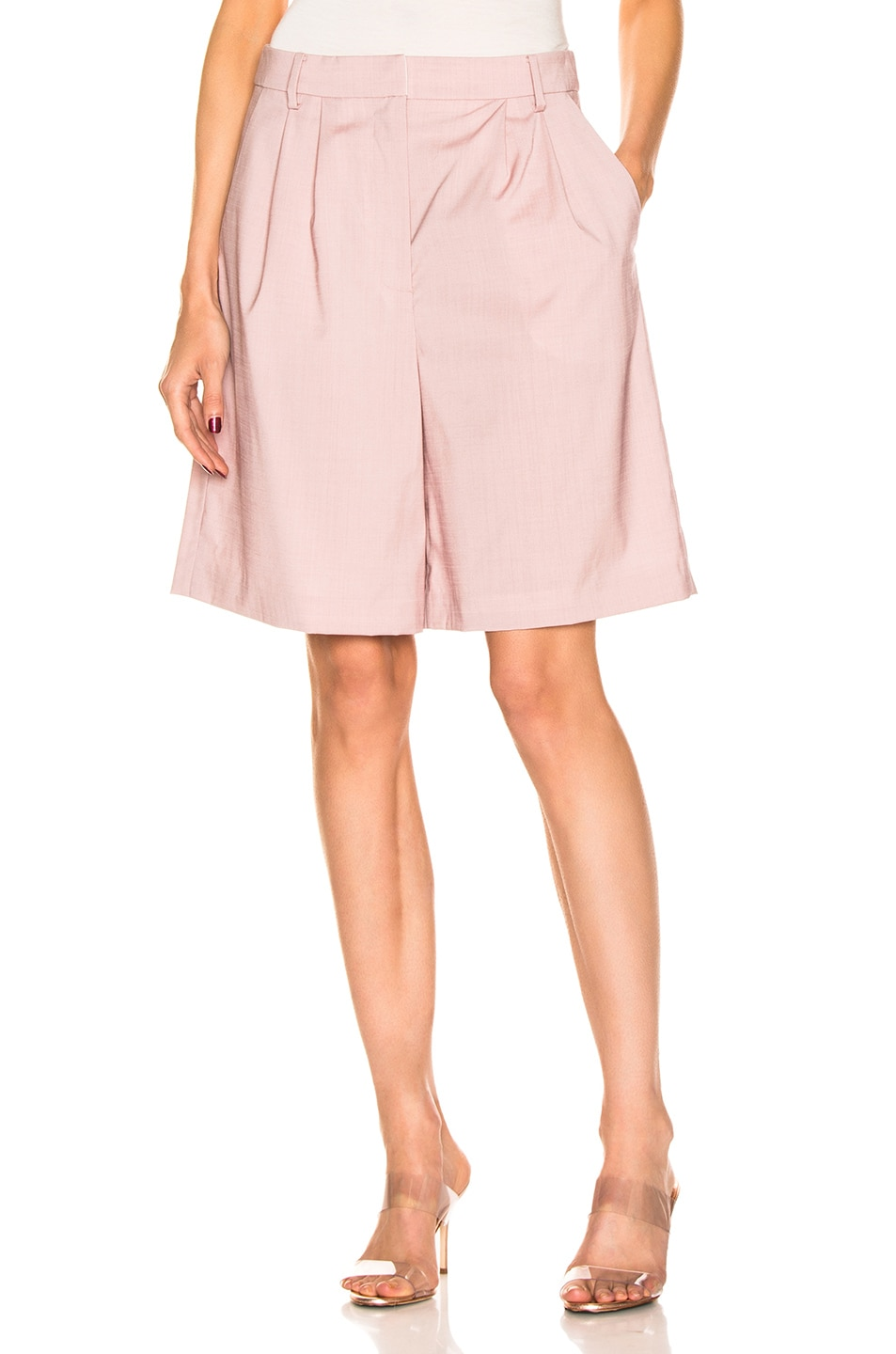 Image 1 of Tibi Pleated Short in Blush