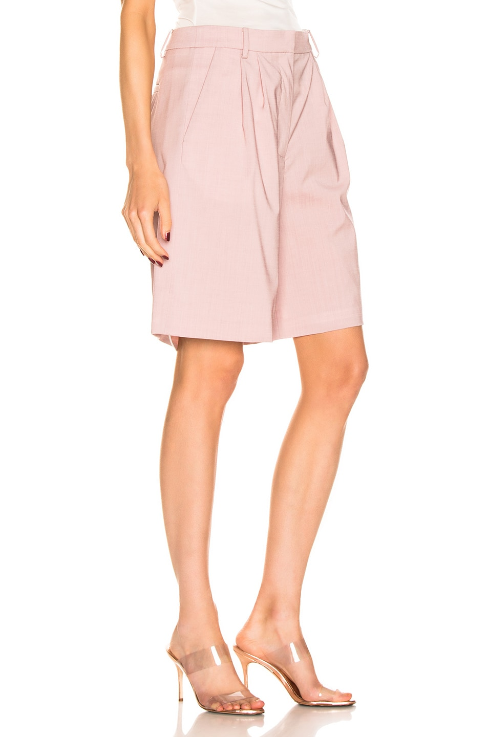 Image 2 of Tibi Pleated Short in Blush
