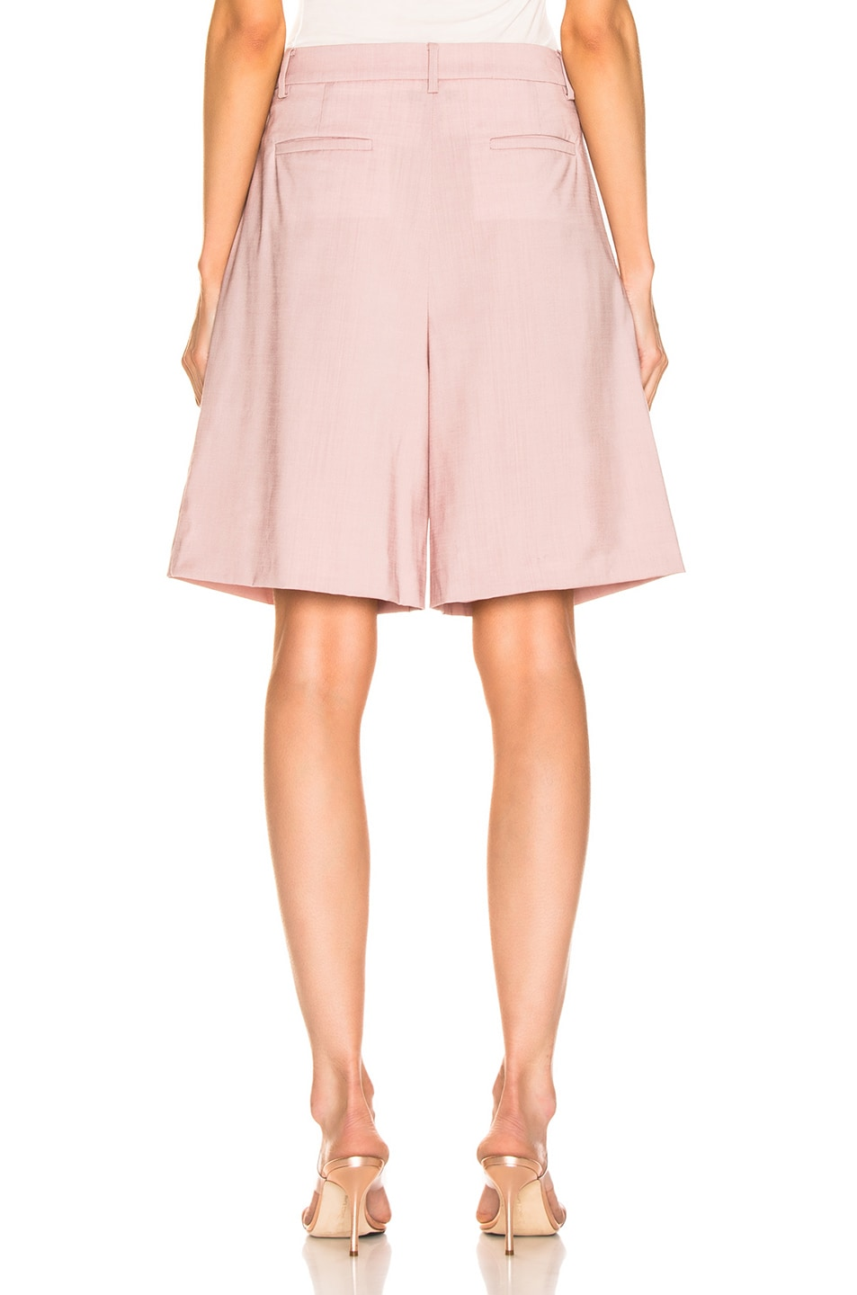 Image 3 of Tibi Pleated Short in Blush