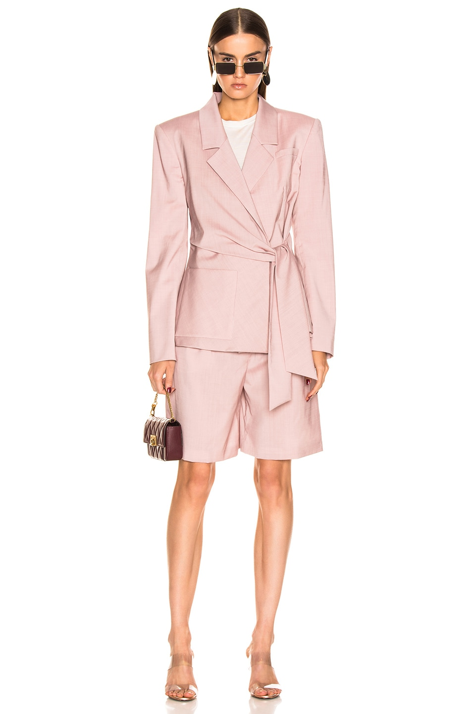 Image 4 of Tibi Pleated Short in Blush